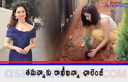 <p>Raashi Khanna accepted green india challenge and plant saplings<br /> &nbsp;</p>