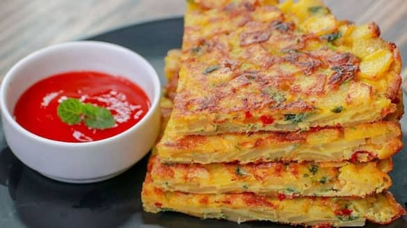 Make Nutritious protein-rich breakfast Spanish Omelette Recipe BDD