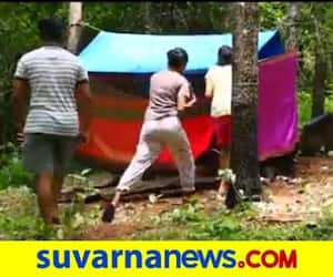 Students construct tent house on hill to get internet in Mangalore