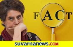 <p>Priyanka Gandhi, &nbsp;Fact Check</p>