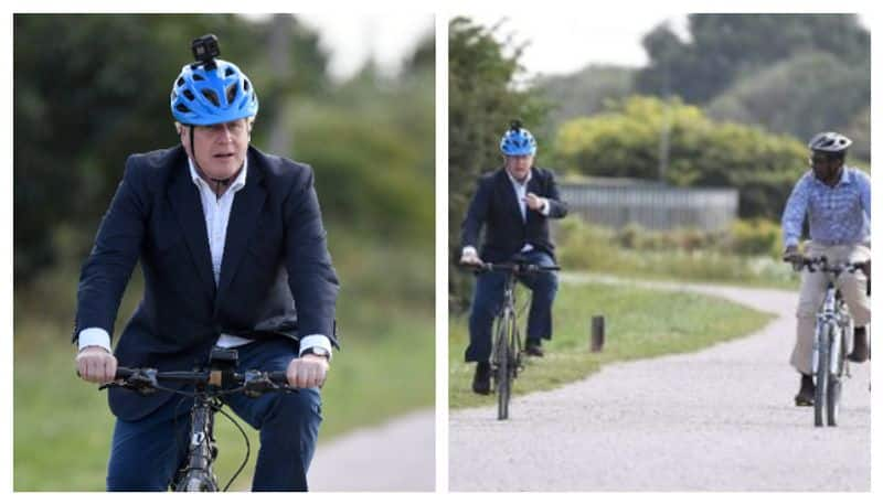 Boris Johnson Rides Made In India Cycle At Launch Of Health Programme BSS