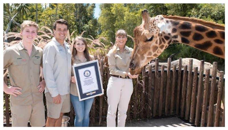 12 year old giraffe named worlds tallest at 18 ft 8 inches Guinness shares pics BSS