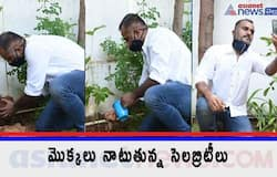 <p>director devakatta accepted green india challenge and planted saplings at his residence</p>