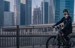 <p>Sheikh Mohammed cycle ride</p>