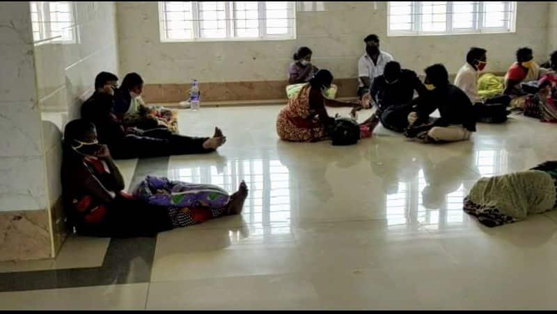 Is such a tragedy at Krishnagiri General Hospital? Patients lying on the floor, veranda