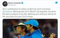 <p>Batting legend and former India skipper Sachin Tendulkar on MS Dhoni</p>