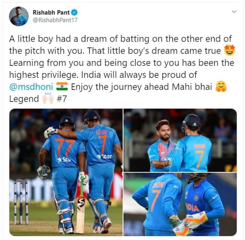 <p>Rishabh Pant on Dhoni</p>