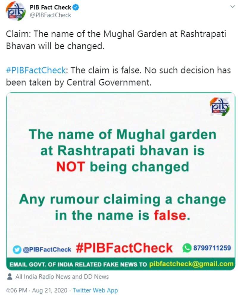 is it Mughal Gardens at Rashtrapati Bhavan renamed as dr rajendra prasad garden