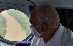 <p>Yediyurappa conducted an aerial survey of flood-hit areas in Belagavi and Bagalkot on Tuesday (August 25) and held a meeting with in-charge ministers and officials of the districts.<br /> &nbsp;</p>