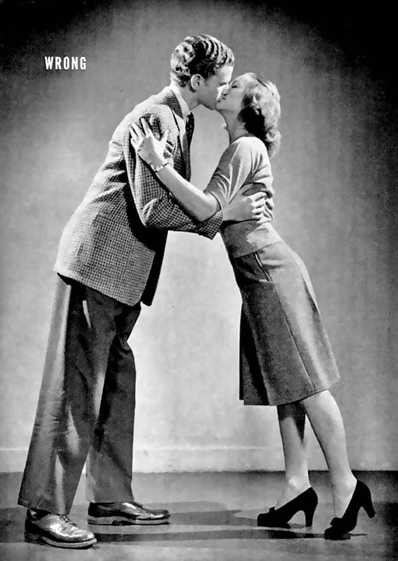 kissing guide from 1940s