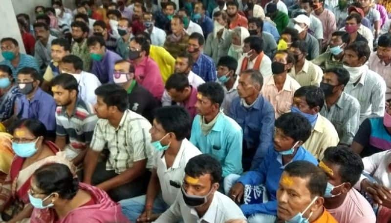 BJP workers are agitated againt Party president in Birbhum BTG