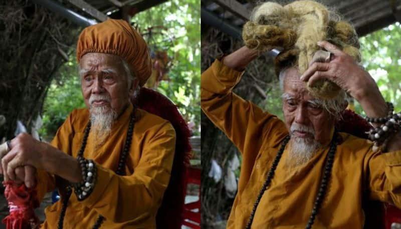 92-year-old Vietnamese man proud owner of five-metre long dreadlocks viral social media BDD