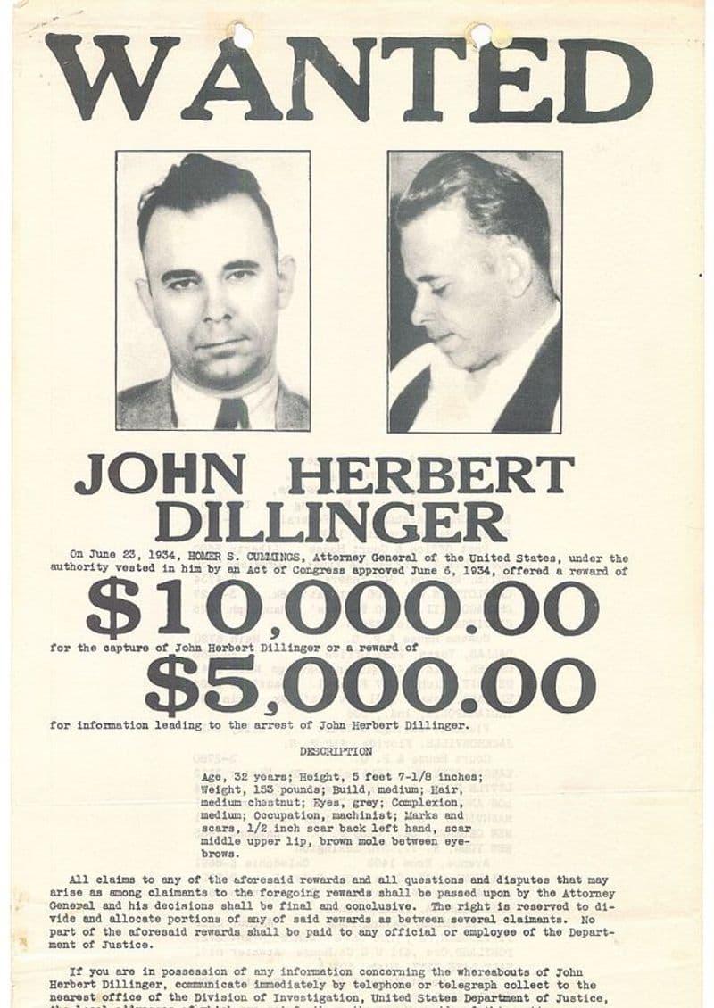 John Dillinger, the notorious criminal during America's Depression era