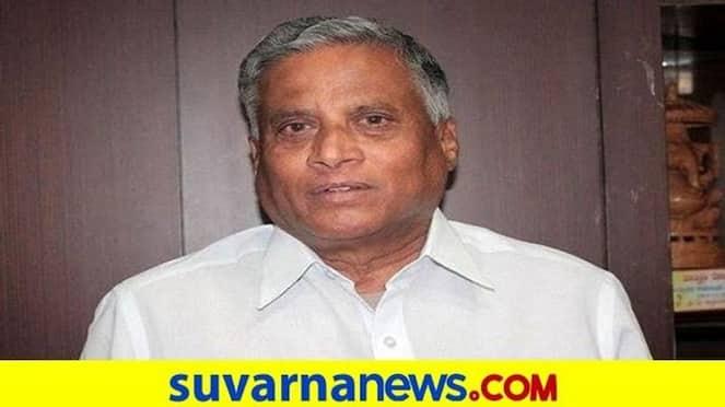 Housing Minister V Somanna distributes food kits at Govindraraja Nagara hls