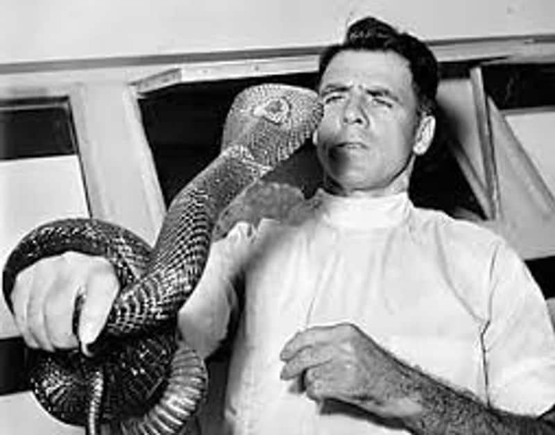 The snake man, who got bitten by snake 173 times