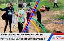 Actress Samyuktha Hegderemoves pullover in park to workout in sports bra, lands in controversy