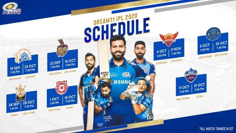 ipl 2020 schedule mumbai indians full fixtures apc