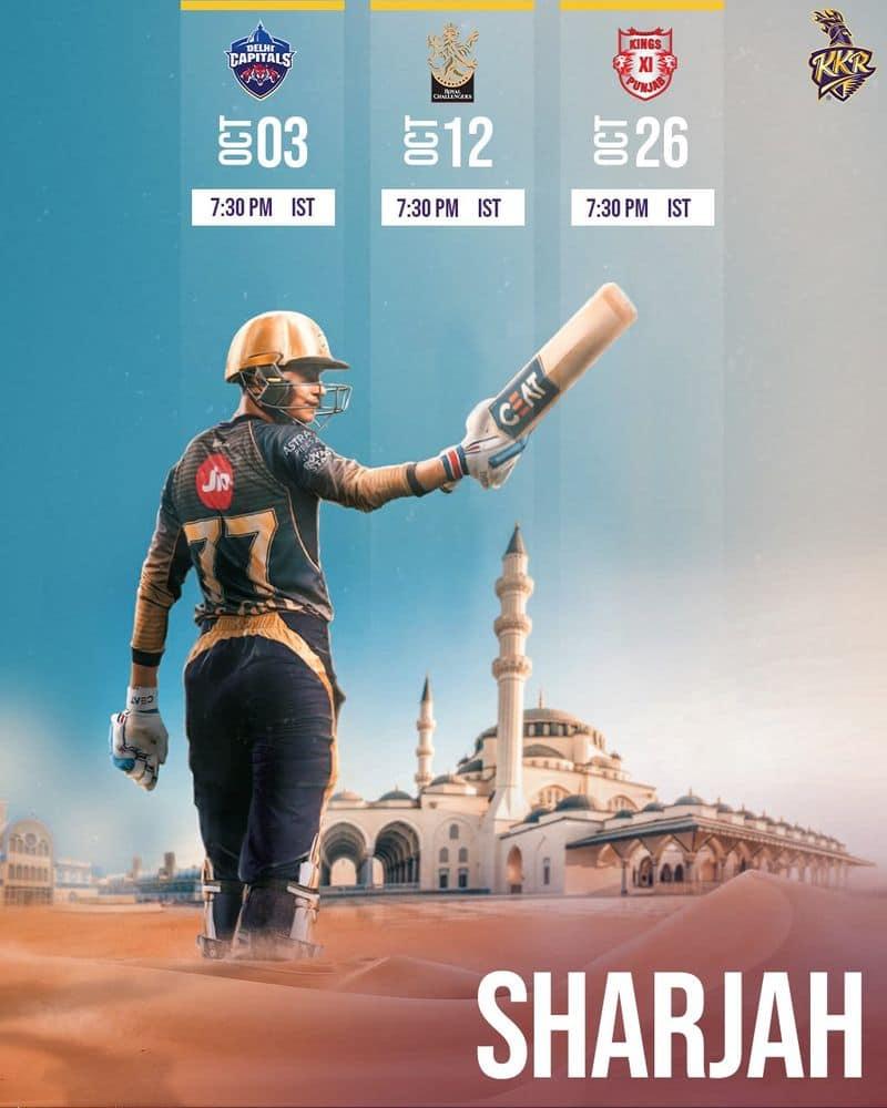 ipl 2020 schedule kolkata knight riders full fixtures apc