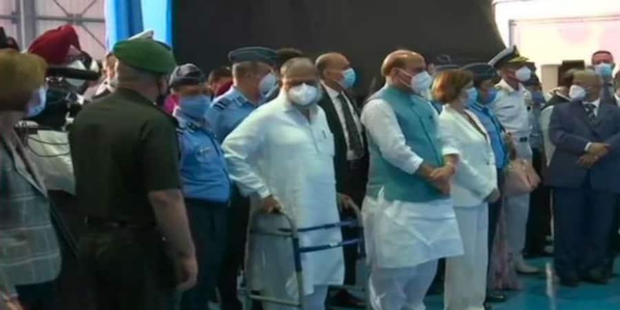 Rafale Induction Live Updates from IAF Ambala air base ceremony Rajnath Singh