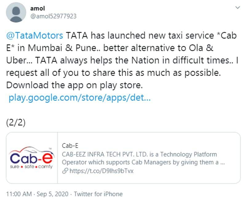Reality behind news TATA Launched Cab Service in India