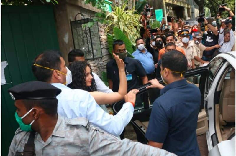 Indignant Kangana visits her demolished office while Sanjay Raut prefers to wash his hands of incident