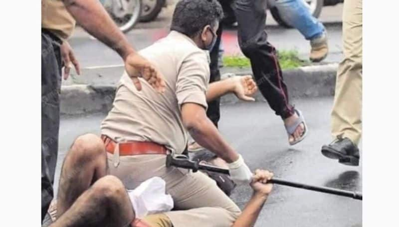 Kerala police does a George Floyd on a protester social media exposes the hypocrisy