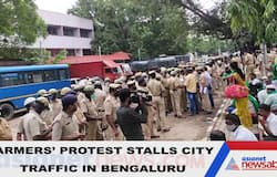 Farmers take out rally in Bengaluru; traffic comes to grinding halt in surroundings of Majestic