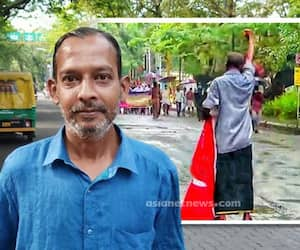 man who opposed BJPs march alone in Kochi is cpm worker ratheesh