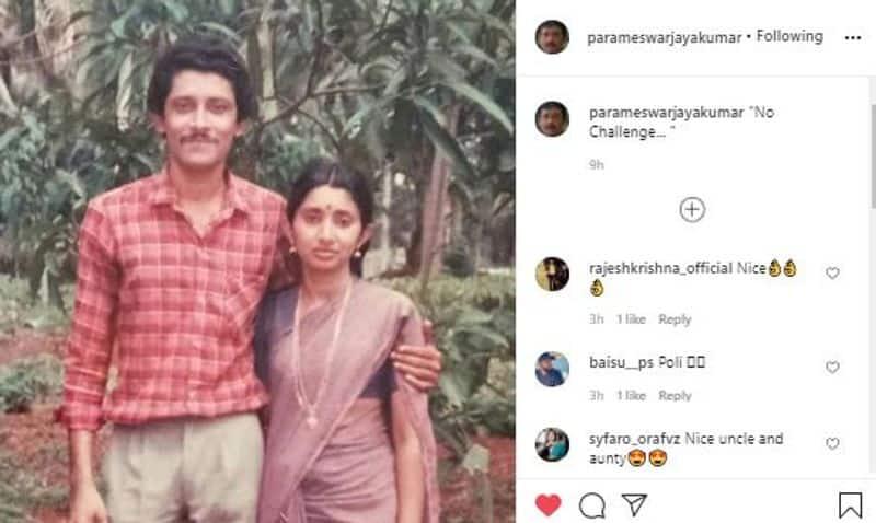 thatteem mutteem actor jayakumar parameswaran shared his vintage image with original mohanavally