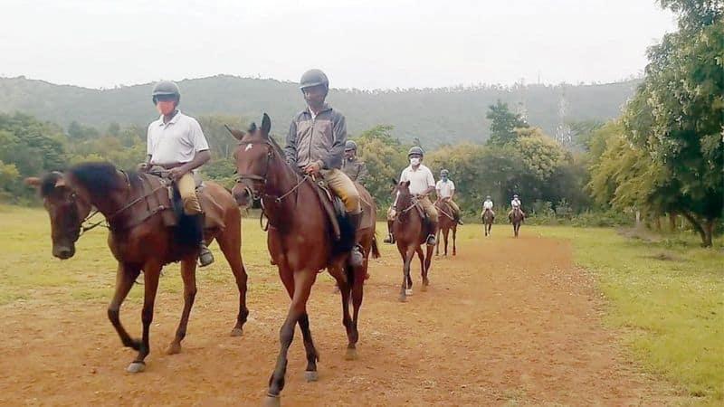Mysuru Dasara: Police train horses for Jamboo Savari, put them on special diet -ymn