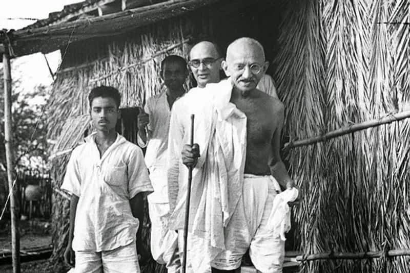 Where was Gandhiji during Independence Day?