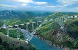 <p><strong>9. World's Highest Rail Bridge in Jammu</strong><br /> &nbsp;<br /> Chenab bridge in Jammu and Kashmir is the World's tallest rail bridge with a height of 1,178 feet over the river Chenab. The arch-shaped bridge is said to be 35 metres taller than Eiffel Tower.</p>