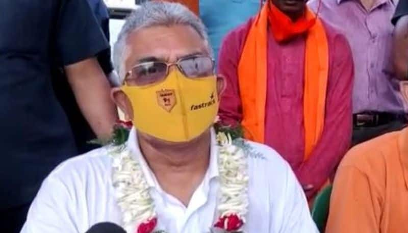 Dilip Ghosh  Covid positive BJP State Presidents health update RTB