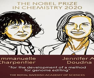 Frances Emanuel and America's Jennifer will receive the Nobel Prize for the year 2020 in the field of chemistry