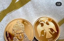 <p>ಡಾ. ರಾಜ್ ಕುಮಾರ್ ಅಪರಿಮಿತ ಸೇವೆಗೆ ಕಲೆಕ್ಟಿಬಲ್ ಮಿಂಟ್ ಸಂಸ್ಥೆಯಿಂದ ಚಿನ್ನದ ನಾಣ್ಯದ ಗೌರವ ನೀಡಲಾಗಿದೆ</p>