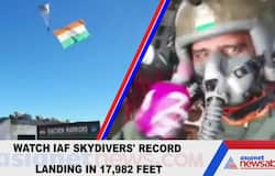 Watch IAF skydivers' record landing in 17,982 feet
