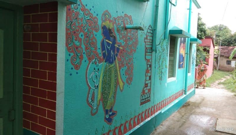 weekend destination near kolkata small village Jaipur decorated with nice art BDD