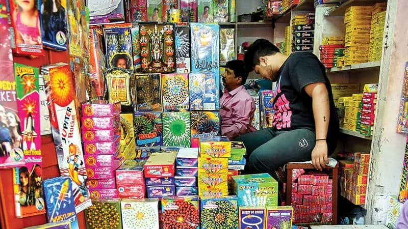People are finding green firecrackers in the markets before Diwali