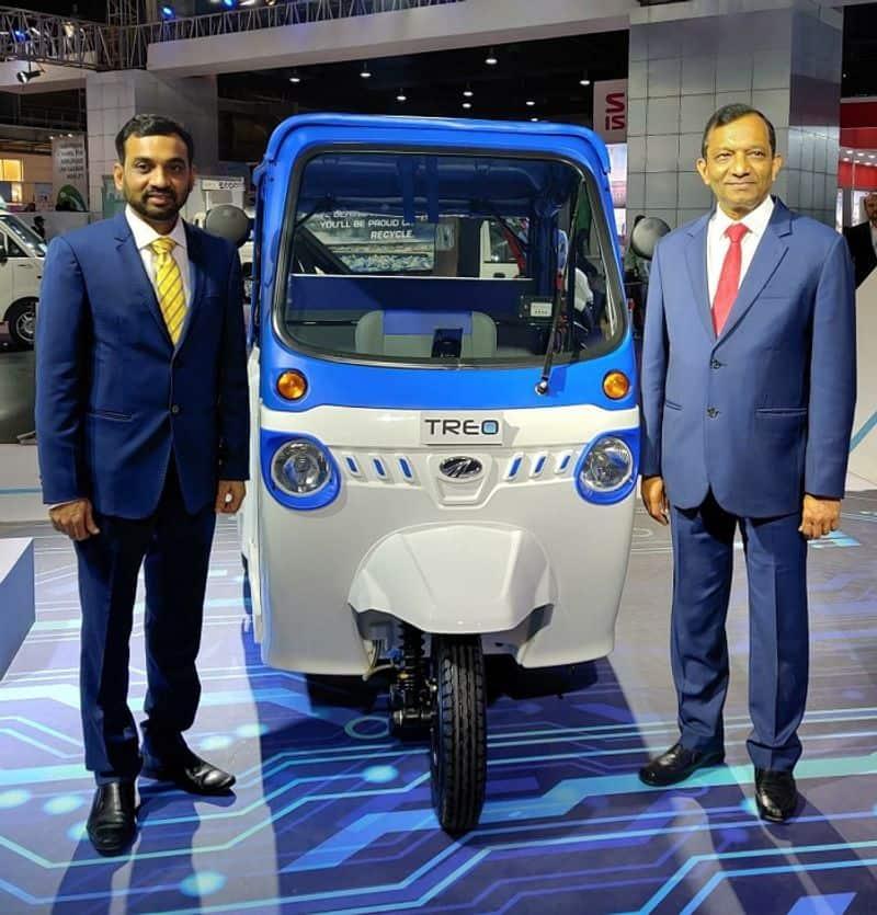 New Mahindra Treo auto rickshaw Set to Electrify Karnataka Roads with e Mobility ckm