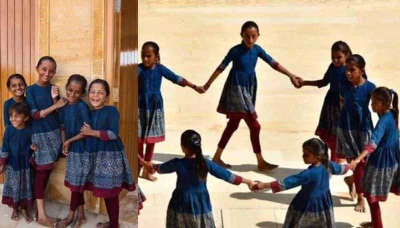 Sabyasachi design school uniforms for privileged school girls