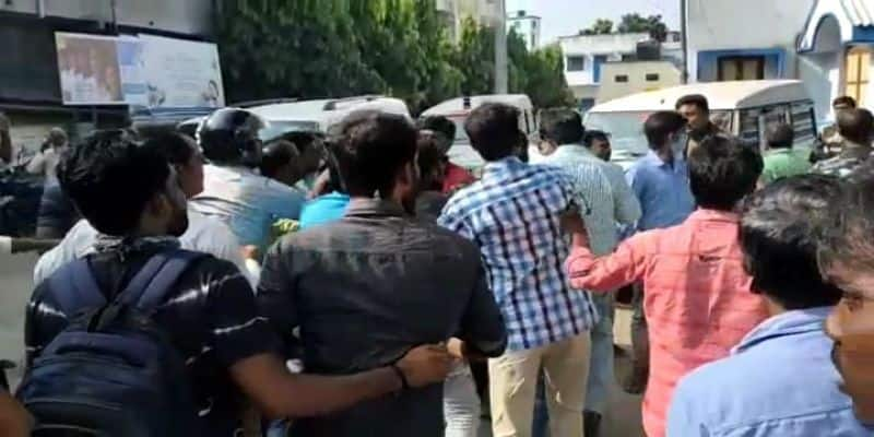 Clash between TMC two group in front of Police at Murshidabad ASB