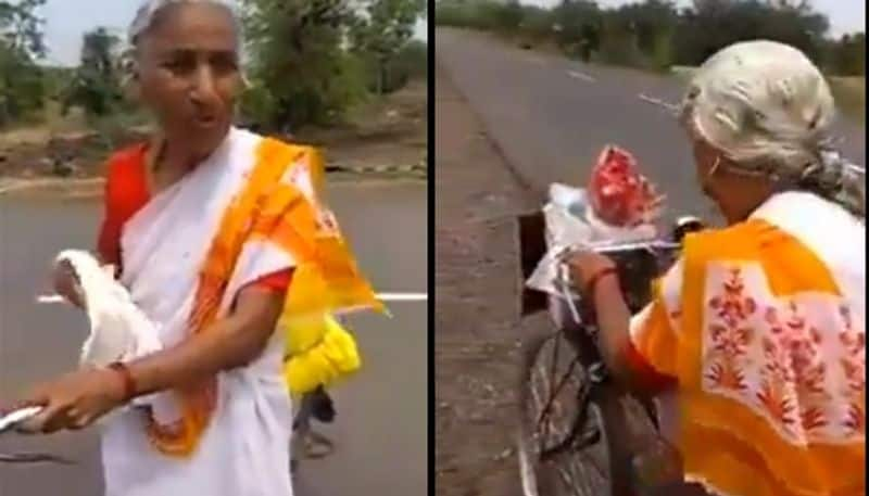 For his old woman, age is just a number as she cycles 2200km to reach Vaishno Devi!