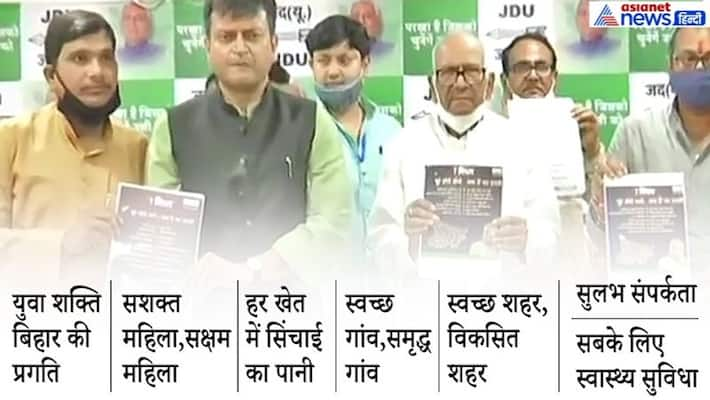 Bihar Election: JDU released its election manifesto, know what is special ASA