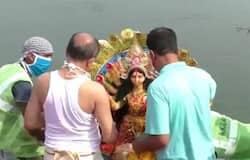 <p>Image of Durga&nbsp;</p>