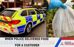 When police delivered food for a customer