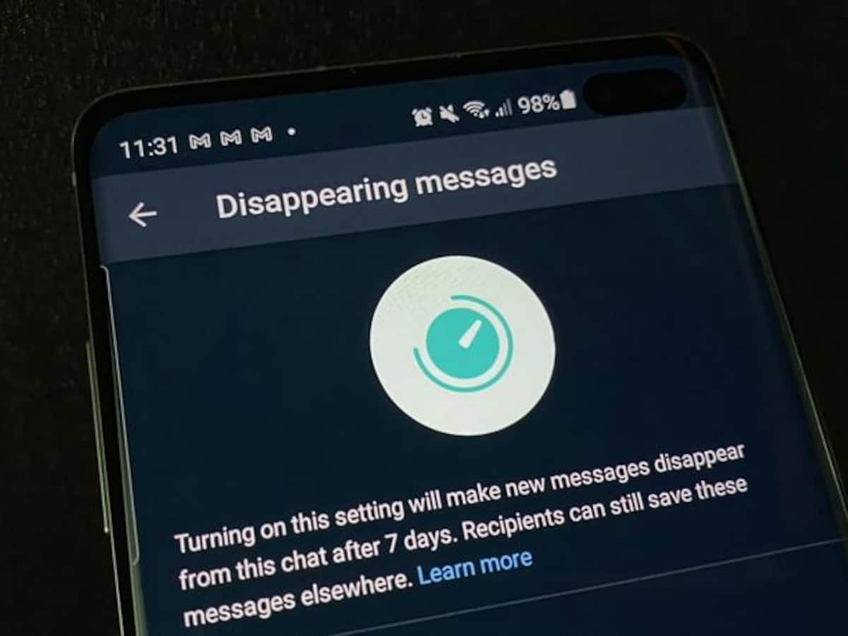 WhatsApp launching 'Disappearing Messages' feature this month