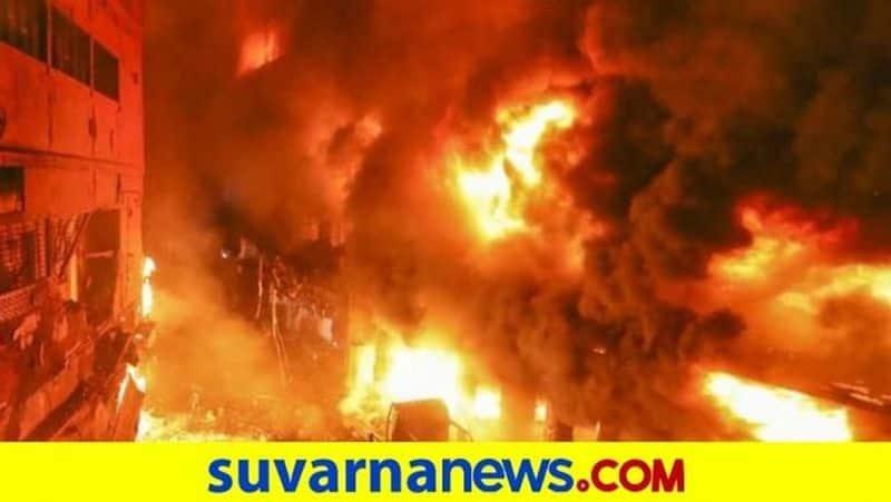 Fire catches At Shivakumara swamiji biological park tuamkuru snr