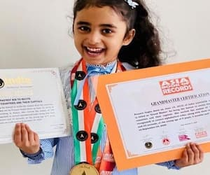 5 year old Pranvi Gupta makes record by reciting names of 195 countries with their capitals kph