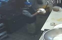 <p>burglar makes pizza</p>