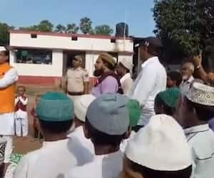 Bihar education minister, Dr. Mewalaal Choudhary could not sing national anthem, RJD viral video asa